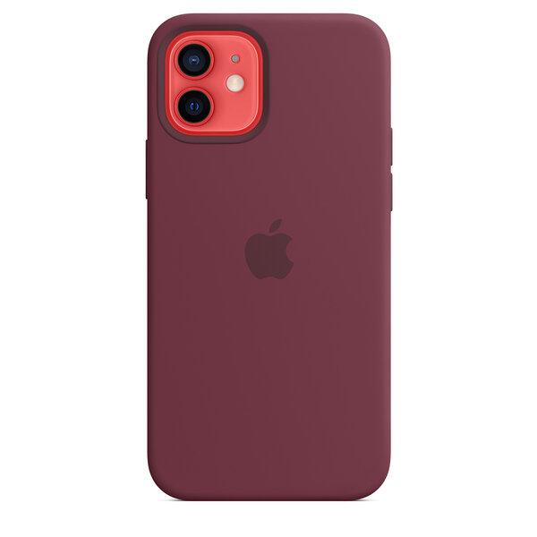 Чехол-накладка для iPhone 12/12 Pro - Apple Silicone Case with MagSafe - Plum (MHL23)