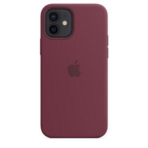 Чехол-накладка для iPhone 12/12 Pro - Apple Silicone Case with MagSafe - Plum (MHL23) - фото 4