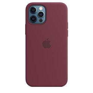 Чехол-накладка для iPhone 12/12 Pro - Apple Silicone Case with MagSafe - Plum (MHL23) - фото 5