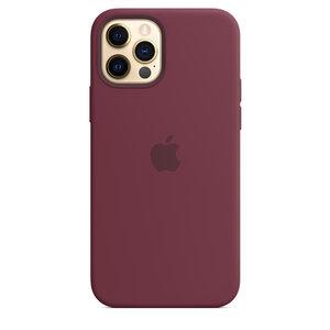 Чехол-накладка для iPhone 12/12 Pro - Apple Silicone Case with MagSafe - Plum (MHL23) - фото 6