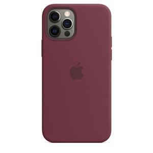 Чехол-накладка для iPhone 12/12 Pro - Apple Silicone Case with MagSafe - Plum (MHL23) - фото 7