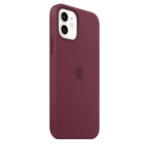 Чехол-накладка для iPhone 12/12 Pro - Apple Silicone Case with MagSafe - Plum (MHL23) - фото 8