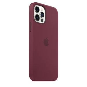 Чехол-накладка для iPhone 12/12 Pro - Apple Silicone Case with MagSafe - Plum (MHL23) - фото 9