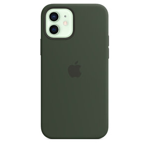 Чехол-накладка для iPhone 12/12 Pro - Apple Silicone Case with MagSafe - Cyprus Green (MHL33) - фото 2