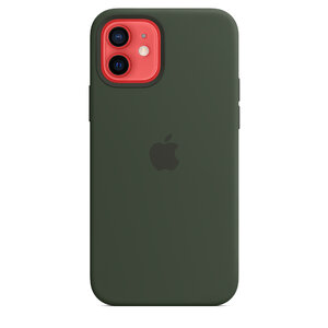 Чехол-накладка для iPhone 12/12 Pro - Apple Silicone Case with MagSafe - Cyprus Green (MHL33) - фото 3