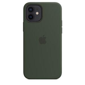 Чехол-накладка для iPhone 12/12 Pro - Apple Silicone Case with MagSafe - Cyprus Green (MHL33) - фото 4