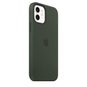 Чехол-накладка для iPhone 12/12 Pro - Apple Silicone Case with MagSafe - Cyprus Green (MHL33) - фото 8