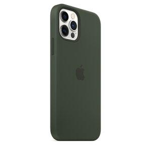 Чехол-накладка для iPhone 12/12 Pro - Apple Silicone Case with MagSafe - Cyprus Green (MHL33) - фото 9