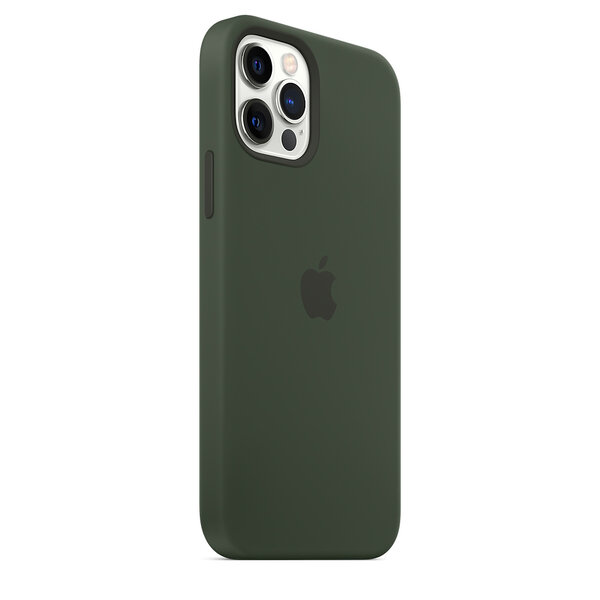 Чехол-накладка для iPhone 12/12 Pro - Apple Silicone Case with MagSafe - Cyprus Green (MHL33)