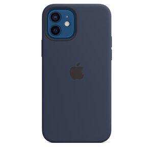 Чехол-накладка для iPhone 12/12 Pro - Apple Silicone Case with MagSafe - Deep Navy (MHL43)