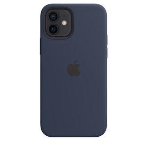 Чехол-накладка для iPhone 12/12 Pro - Apple Silicone Case with MagSafe - Deep Navy (MHL43) - фото 4