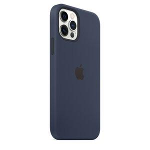 Чехол-накладка для iPhone 12/12 Pro - Apple Silicone Case with MagSafe - Deep Navy (MHL43) - фото 9