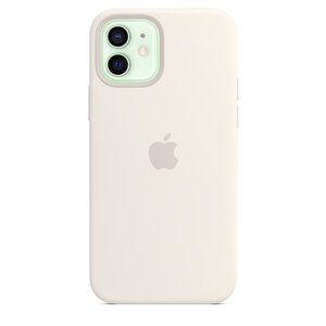 Чехол-накладка для iPhone 12/12 Pro - Apple Silicone Case with MagSafe - White (MHL53) - фото 2
