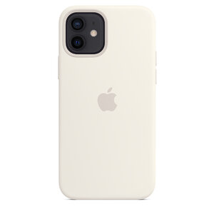 Чехол-накладка для iPhone 12/12 Pro - Apple Silicone Case with MagSafe - White (MHL53) - фото 4
