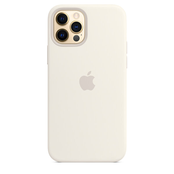 Чехол-накладка для iPhone 12/12 Pro - Apple Silicone Case with MagSafe - White (MHL53)