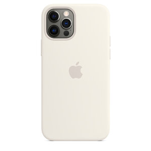Чехол-накладка для iPhone 12/12 Pro - Apple Silicone Case with MagSafe - White (MHL53) - фото 7