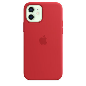 Чехол-накладка для iPhone 12/12 Pro - Apple Silicone Case with MagSafe - (PRODUCT)RED (MHL63) - фото 1