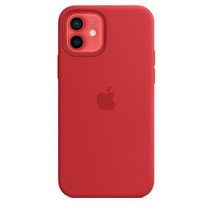 Чехол-накладка для iPhone 12/12 Pro - Apple Silicone Case with MagSafe - (PRODUCT)RED (MHL63) - фото 2
