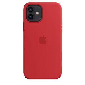Чехол-накладка для iPhone 12/12 Pro - Apple Silicone Case with MagSafe - (PRODUCT)RED (MHL63) - фото 3