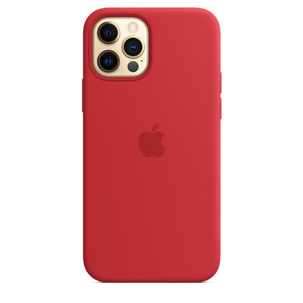 Чехол-накладка для iPhone 12/12 Pro - Apple Silicone Case with MagSafe - (PRODUCT)RED (MHL63)