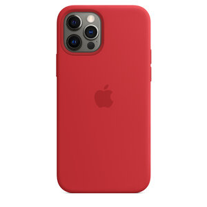Чехол-накладка для iPhone 12/12 Pro - Apple Silicone Case with MagSafe - (PRODUCT)RED (MHL63) - фото 6