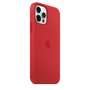 Чехол-накладка для iPhone 12/12 Pro - Apple Silicone Case with MagSafe - (PRODUCT)RED (MHL63) - фото 8