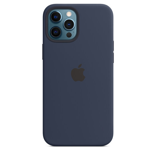 Чехол-накладка для iPhone 12 Pro Max - Apple Silicone Case with MagSafe - Deep Navy (MHLD3)