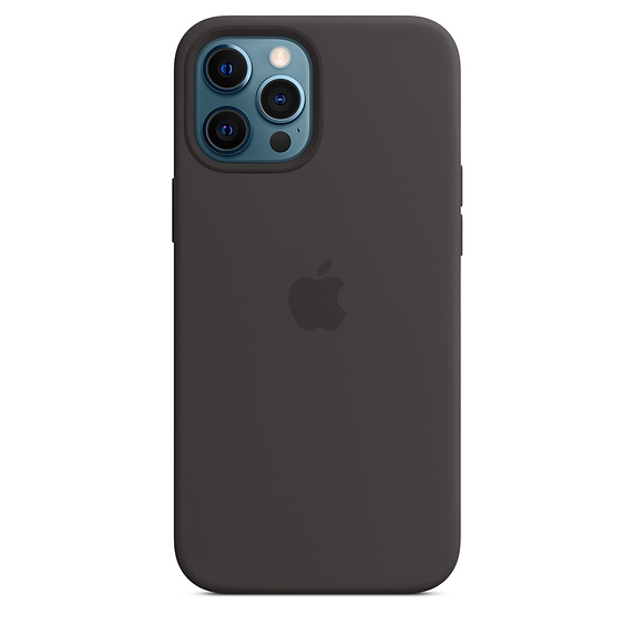 Чехол-накладка для iPhone 12 Pro Max - Apple Silicone Case with MagSafe - Black (MHLG3)