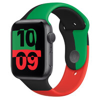 Apple Watch Series 6 GPS 44mm Black Unity Aluminum Case with Sport Band (MJ6P3)