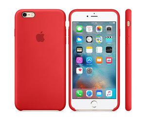 Чехол-накладка для iPhone 6 Plus/6s Plus - Apple Silicone Case - Product(Red) (MKXM2)