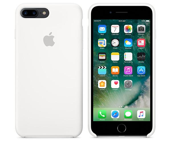 Чехол-накладка для iPhone 7 Plus/8 Plus - Apple Silicone Case - White (MMQT2)