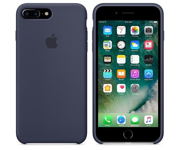 Чехол-накладка для iPhone 7 Plus/8 Plus - Apple Silicone Case - Midnight Blue (MMQU2)