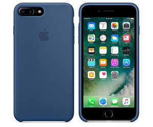 Чехол-накладка для iPhone 7 Plus/8 Plus - Apple Silicone Case - Ocean Blue (MMQX2) - фото 4
