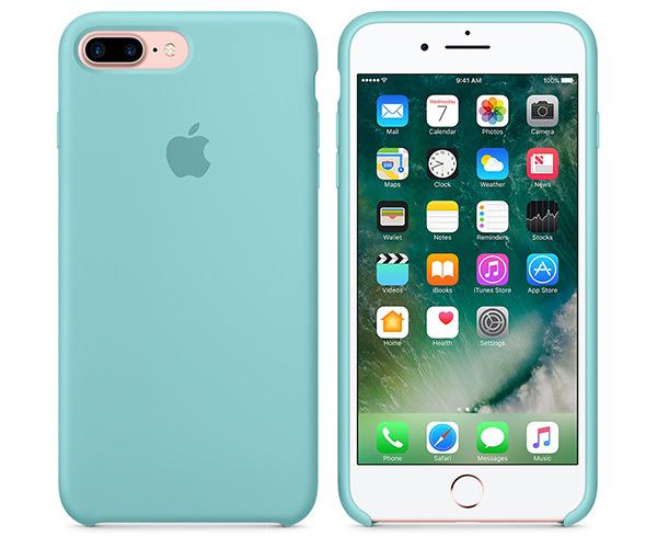Чехол-накладка для iPhone 7 Plus/8 Plus - Apple Silicone Case - Sea Blue (MMQY2)