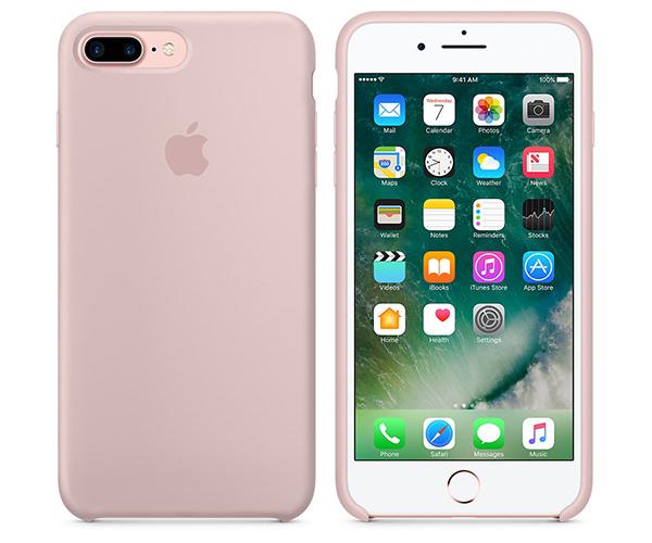 Чехол-накладка для iPhone 7 Plus/8 Plus - Apple Silicone Case - Pink Sand (MMT02)