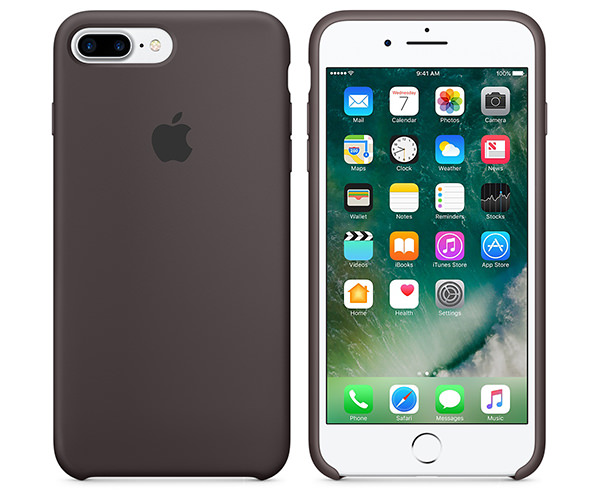Чехол-накладка для iPhone 7 Plus/8 Plus - Apple Silicone Case - Cocoa (MMT12)