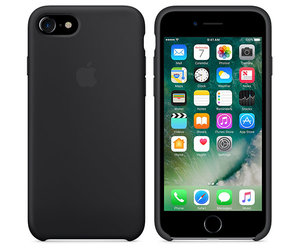 Чехол-накладка для iPhone 7/8/SE - Apple Silicone Case - Black (MMW82) - фото 4