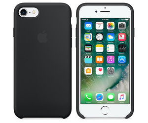 Чехол-накладка для iPhone 7/8/SE - Apple Silicone Case - Black (MMW82) - фото 6
