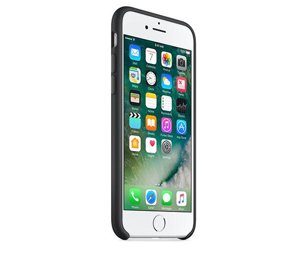 Чехол-накладка для iPhone 7/8/SE - Apple Silicone Case - Black (MMW82)