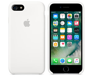 Чехол-накладка для iPhone 7/8/SE - Apple Silicone Case - White (MMWF2) - фото 4