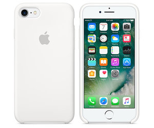 Чехол-накладка для iPhone 7/8/SE - Apple Silicone Case - White (MMWF2) - фото 6