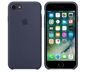 Чехол-накладка для iPhone 7/8/SE - Apple Silicone Case - Midnight Blue (MMWK2) - фото 2
