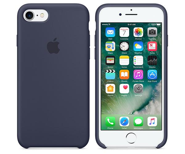 Чехол-накладка для iPhone 7/8/SE - Apple Silicone Case - Midnight Blue (MMWK2)