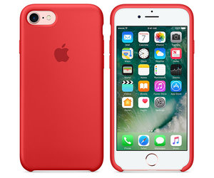 Чехол-накладка для iPhone 7/8/SE - Apple Silicone Case - Product(Red) (MMWN2) - фото 5