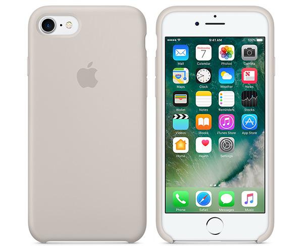 Чехол-накладка для iPhone 7/8 - Apple Silicone Case - Stone (MMWR2)