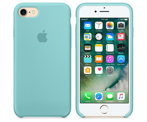 Чехол-накладка для iPhone 7/8/SE - Apple Silicone Case - Sea Blue (MMX02) - фото 4