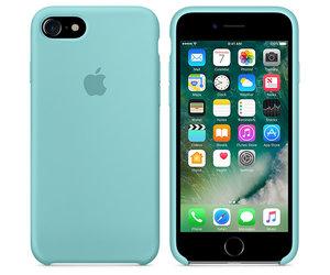 Чехол-накладка для iPhone 7/8 - Apple Silicone Case - Sea Blue (MMX02) - фото 3