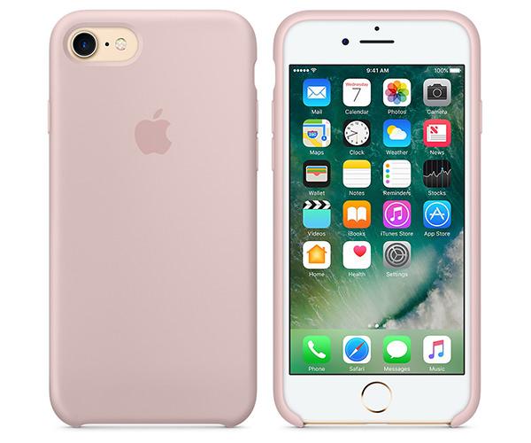 Чехол-накладка для iPhone 7/8/SE - Apple Silicone Case - Pink Sand (MMX12)