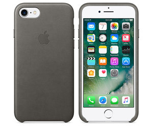 Чехол-накладка для iPhone 7/8/SE - Apple Leather Case - Storm Gray (MMY12) - фото 6