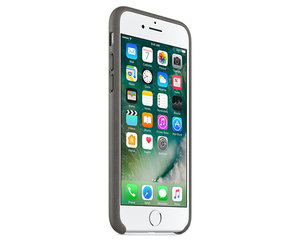 Чехол-накладка для iPhone 7/8 - Apple Leather Case - Storm Gray (MMY12) - фото 1